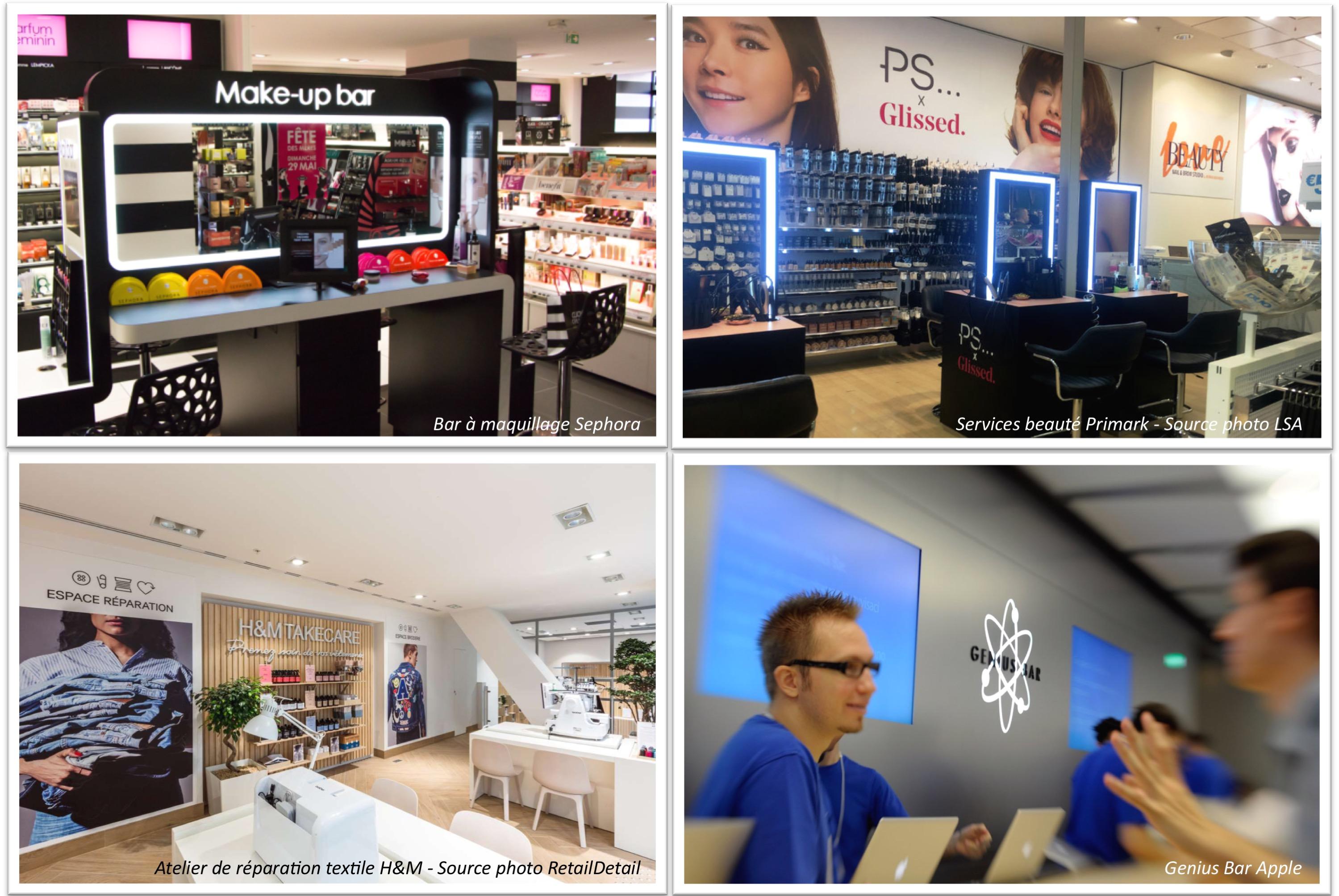 Services dédiés Apple - Sephora - Primark - H&M